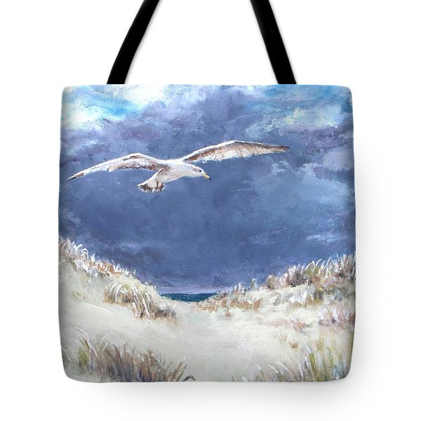 Cloudy With A Chance Of Seagulls Tote Bag by Jack Skinner