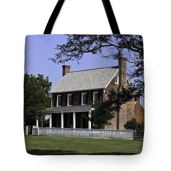 Clover Hill Tavern Appomattox Virginia Tote Bag by Teresa Mucha