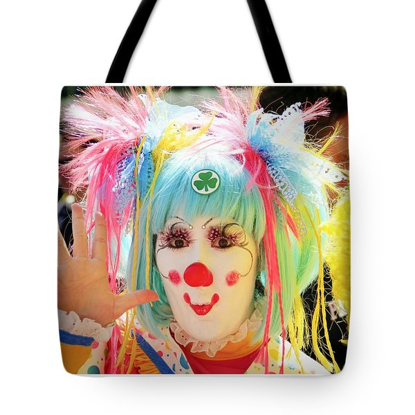 Tote Bag featuring the photograph Cloverleaf Clown by Alice Gipson