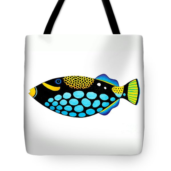 Clown Triggerfish  Tote Bag by Opas Chotiphantawanon