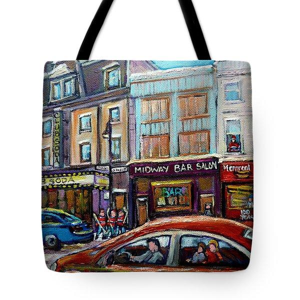 Club Soda Nightclub Tote Bag by Carole Spandau