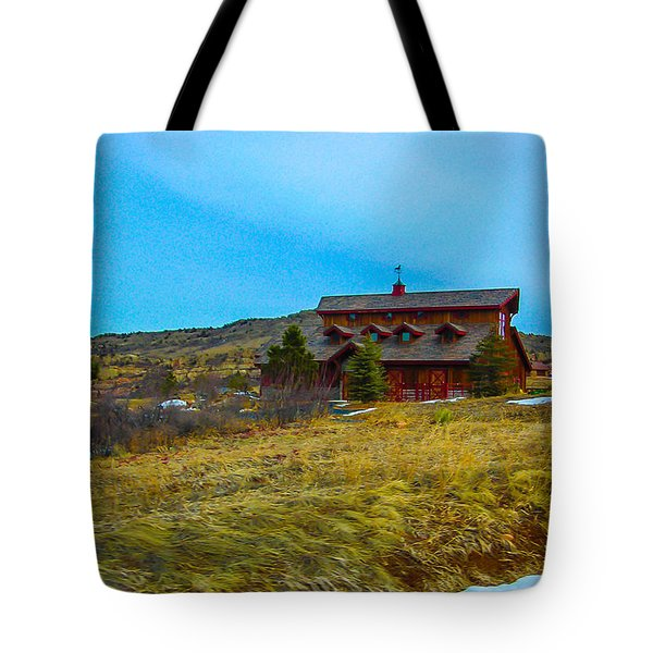 Tote Bag featuring the photograph Co. Farm by Shannon Harrington
