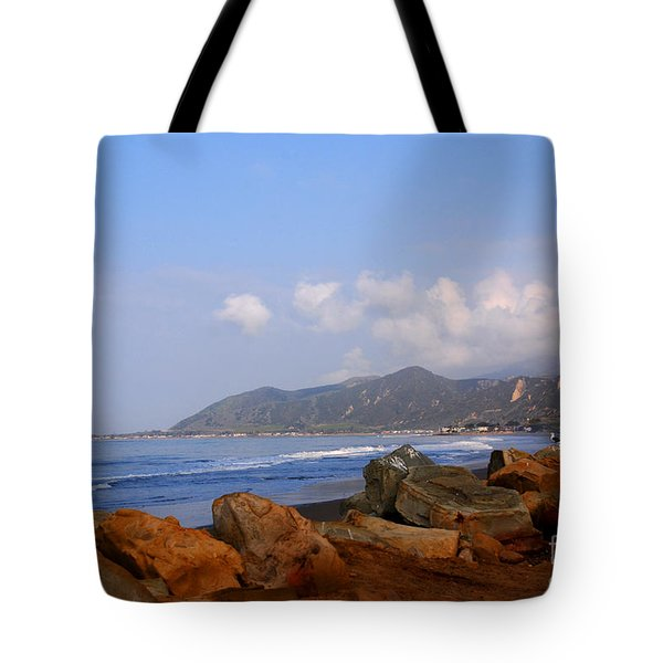 Coast Line California Tote Bag by Susanne Van Hulst