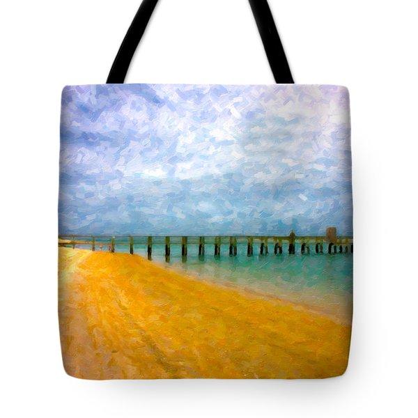 Coastal Dreamland Tote Bag by Betsy Knapp