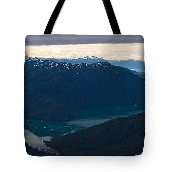 Coastal Range Fjords Tote Bag by Mike Reid