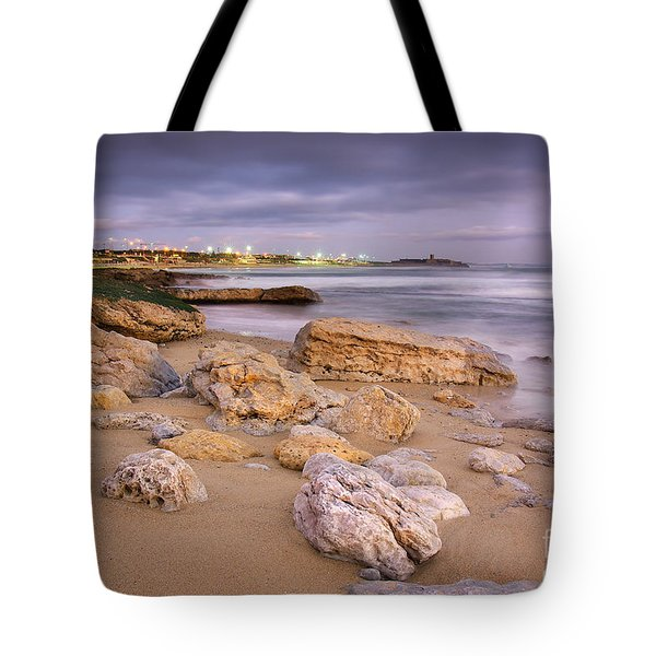 Coastline At Twilight Tote Bag by Carlos Caetano