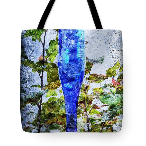 Cobalt Blue Bottle Triptych 1 Of 3 Tote Bag by Andee Design