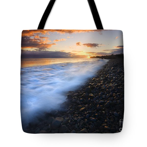 Cobblestone Sunset Tote Bag by Mike  Dawson