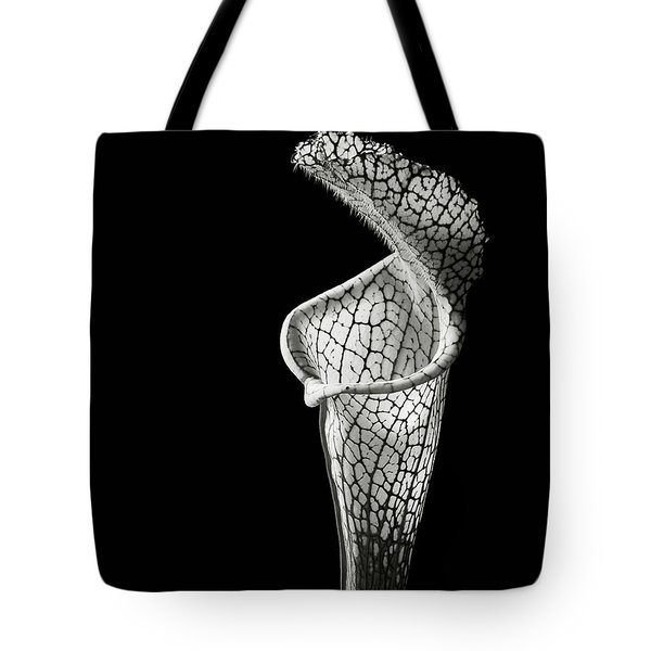 Cobra Lily In Black And White Tote Bag