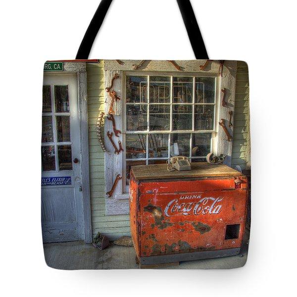 Coca Cola Cooler Randsburg Tote Bag by Bob Christopher