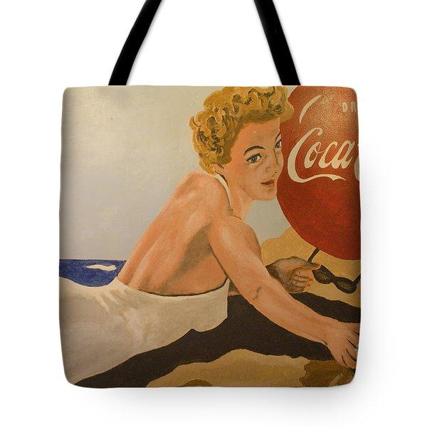 Coca Cola  Vintage Sign Tote Bag by Bob Christopher