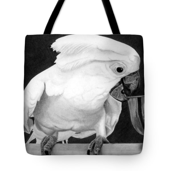 Tote Bag featuring the drawing Cockatoo by Ana Tirolese