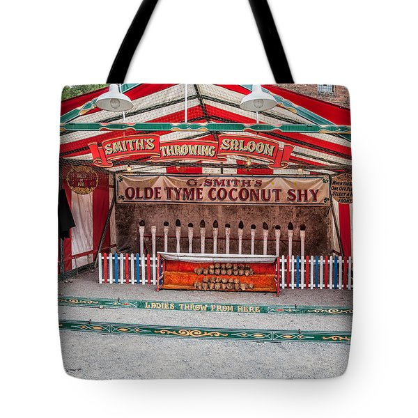Tote Bag featuring the photograph Coconut Shy by Adrian Evans