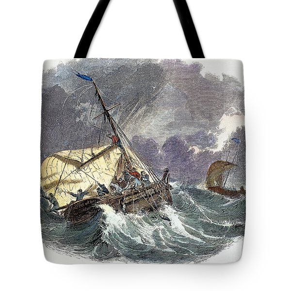 Cod Fishing In New England Tote Bag by Granger