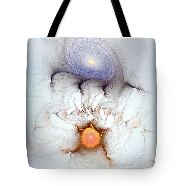 Tote Bag featuring the digital art Coexistence by Casey Kotas