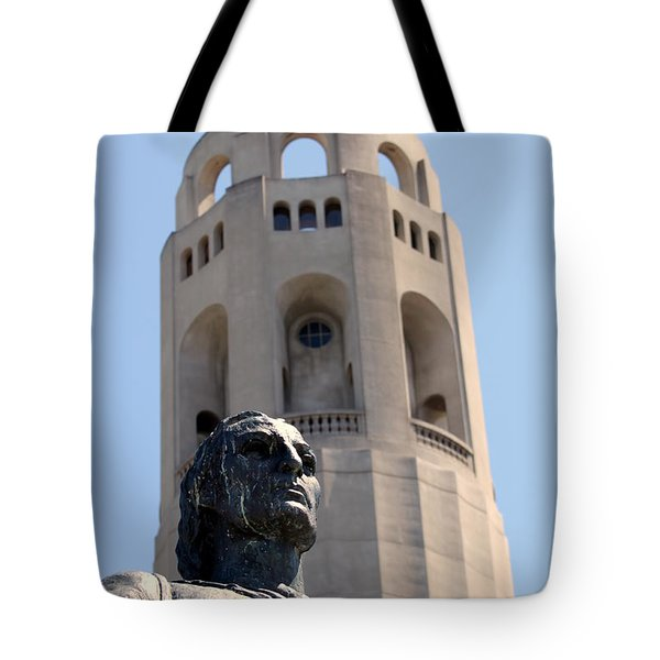 Coit Tower Statue Columbus Tote Bag