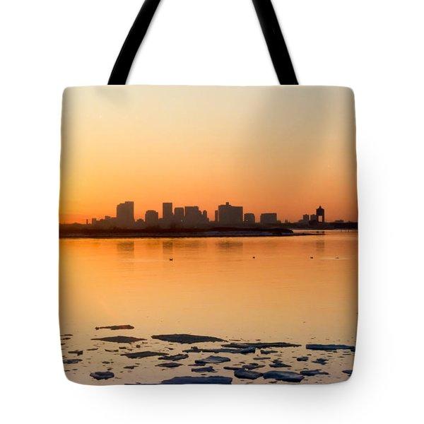 Cold Fire Tote Bag by Michelle Wiarda