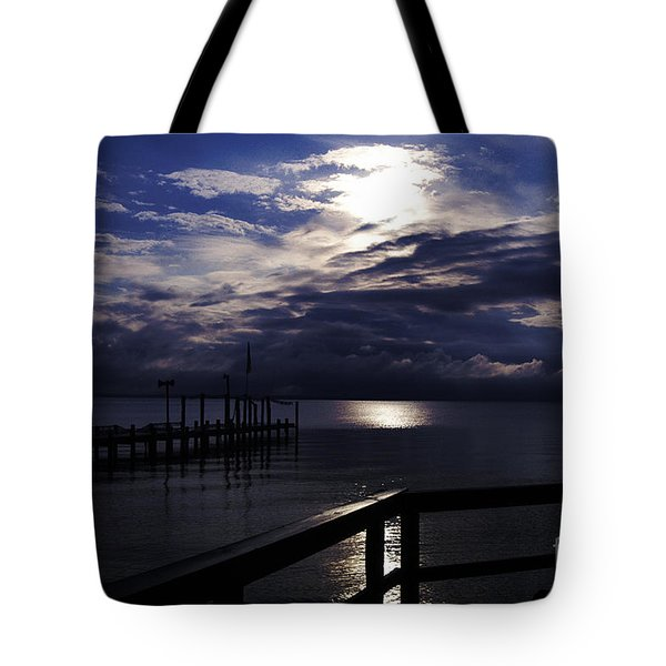 Tote Bag featuring the photograph Cold Night On The Water by Clayton Bruster