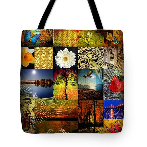 Collage Of Colors Tote Bag by Mark Ashkenazi