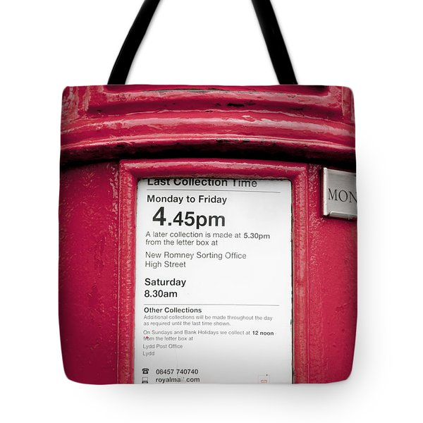 Collection Time 4.45 Pm Tote Bag by Heiko Koehrer-Wagner