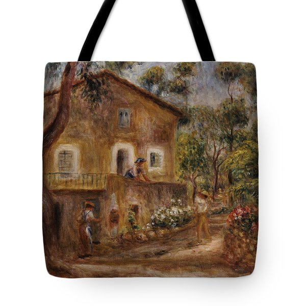 Collette's House At Cagne Tote Bag by Pierre Auguste Renoir