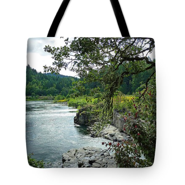 Colliding Rivers Tote Bag by Methune Hively