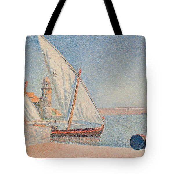 Collioure Les Balancelles Tote Bag by Paul Signac