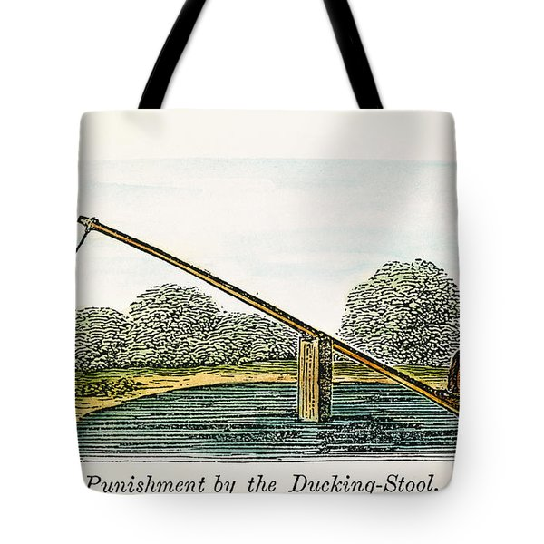 Colonial Ducking Stool Tote Bag by Granger