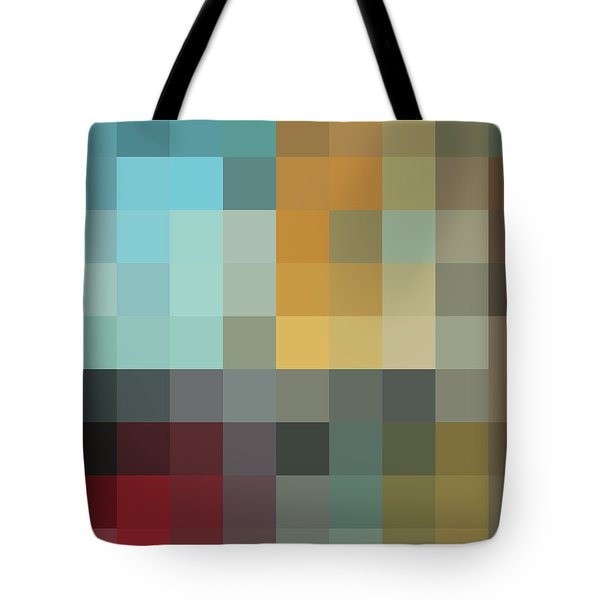 Color Blocking In The Maze II By Madart Tote Bag by Megan Duncanson