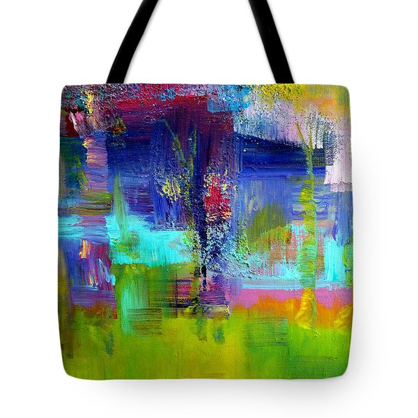 Color Blocks Tote Bag by Claire Bull