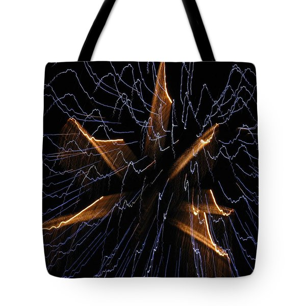 Color Me Electric Tote Bag by Rhonda Barrett