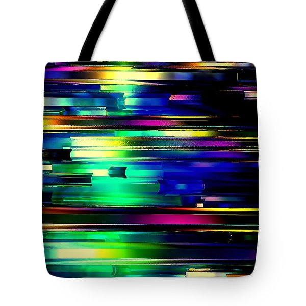 Tote Bag featuring the digital art Color Of Speed by Greg Moores