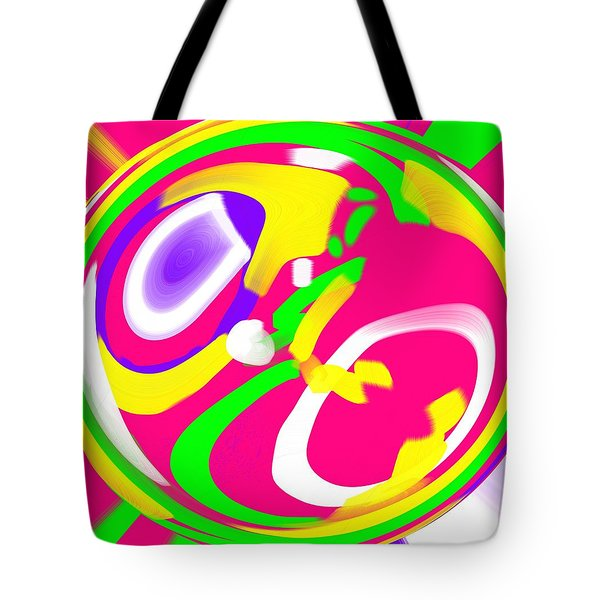 Tote Bag featuring the digital art Color Roundup by George Pedro