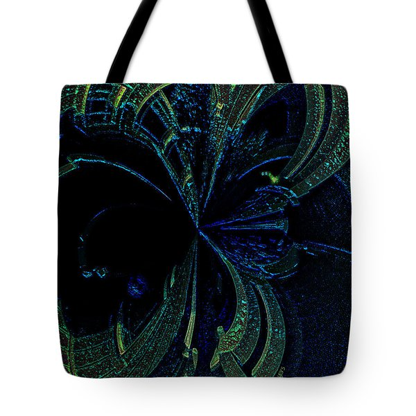 Color Study 02 Green Blue Tote Bag