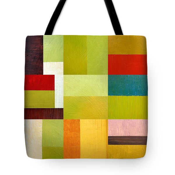 Color Study Abstract 9.0 Tote Bag by Michelle Calkins