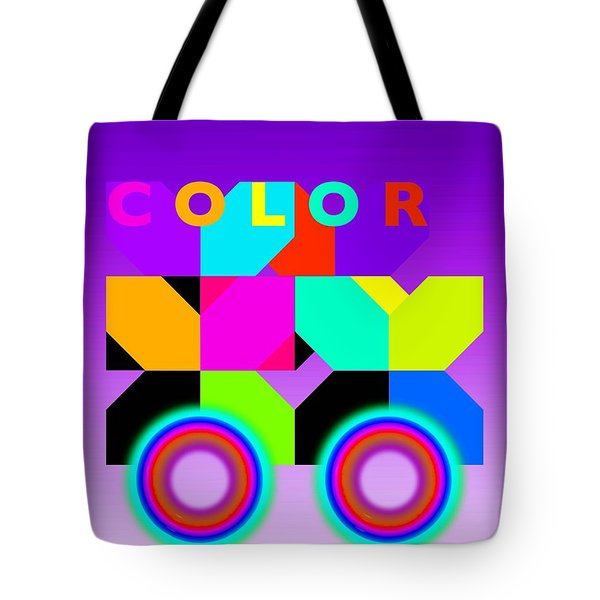Color Wheels Tote Bag