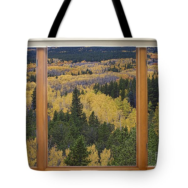 Colorado Autumn Picture Window Frame Art Photos Tote Bag by James BO  Insogna
