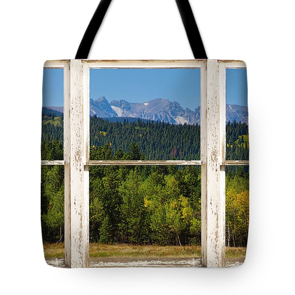 Colorado Indian Peaks Autumn Rustic Window View Tote Bag by James BO  Insogna