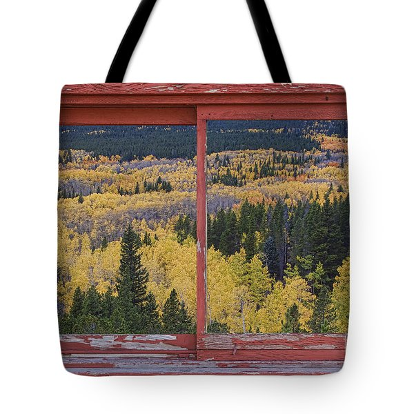 Colorado Red Rustic Picture Window Frame Photo Art Tote Bag by James BO  Insogna