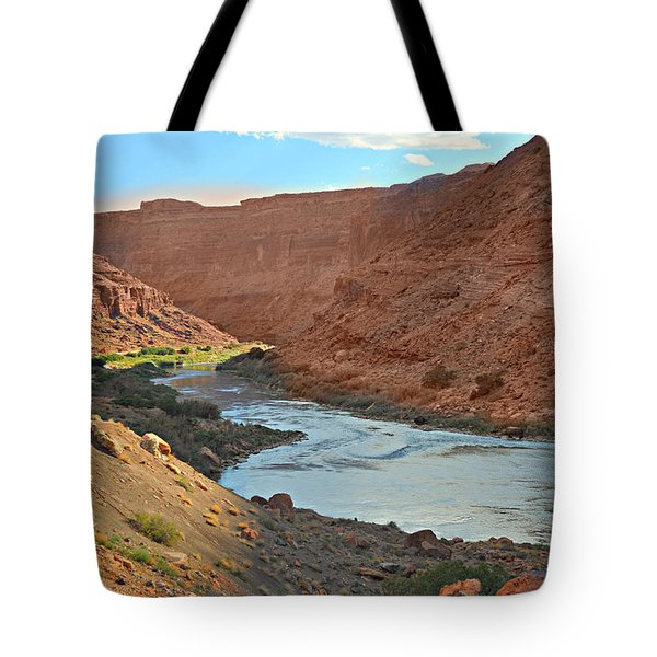 Colorado River Canyon 1 Tote Bag by Marty Koch