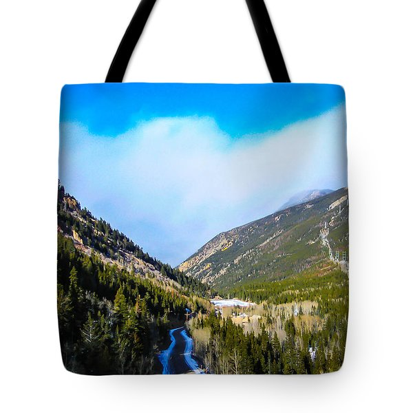 Tote Bag featuring the photograph Colorado Road by Shannon Harrington