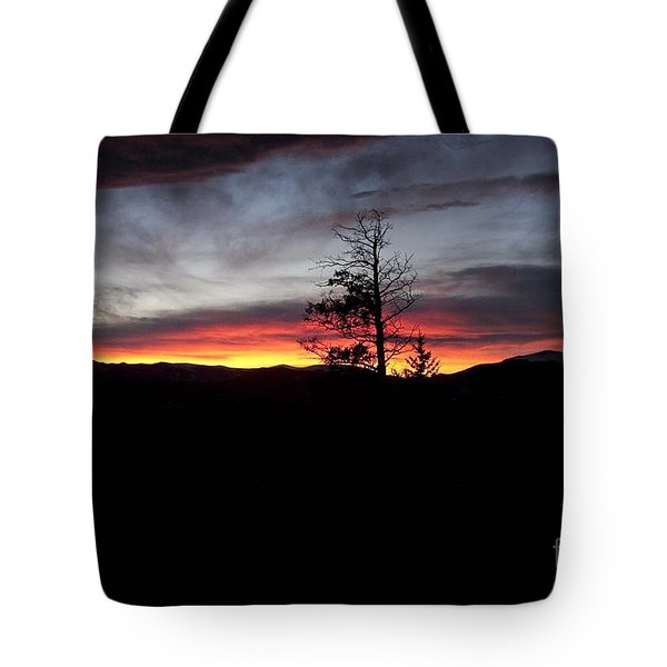Tote Bag featuring the photograph Colorado Sunset by Angelique Olin