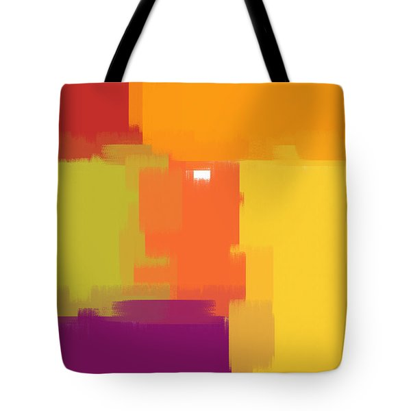 Colorblock Tote Bag by Heidi Smith