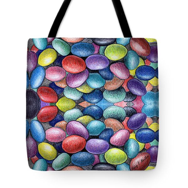 Colored Beans Design Tote Bag by Nancy Mueller