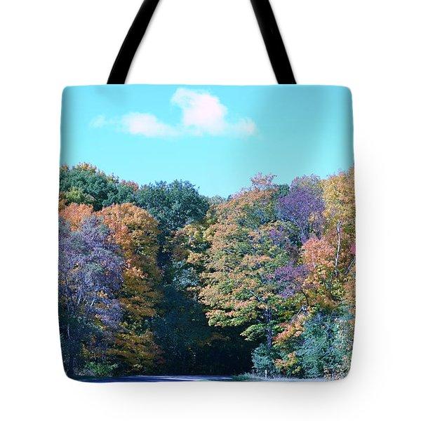 Colored Trees Tote Bag by Dyana Rzentkowski