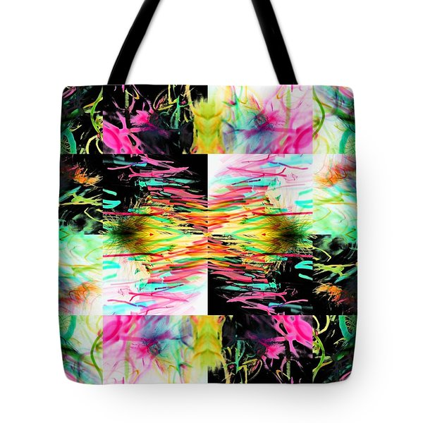 Colored Tubes Tote Bag by Sumit Mehndiratta
