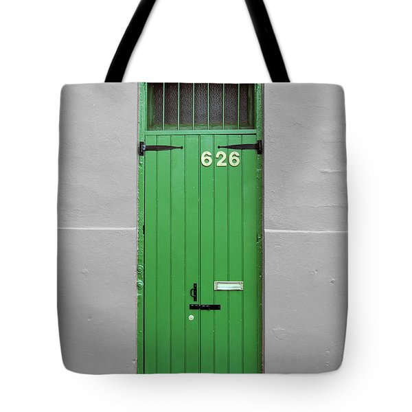Colorful Arched Doorway French Quarter New Orleans Color Splash Black And White Tote Bag by Shawn O'Brien