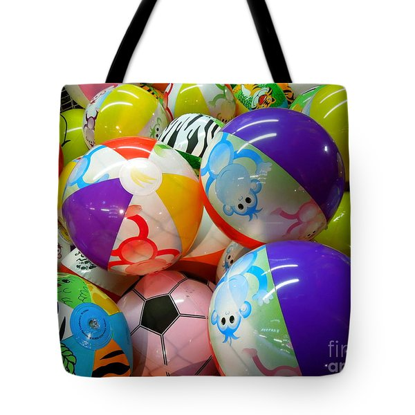 Tote Bag featuring the photograph Colorful Balls by Renee Trenholm