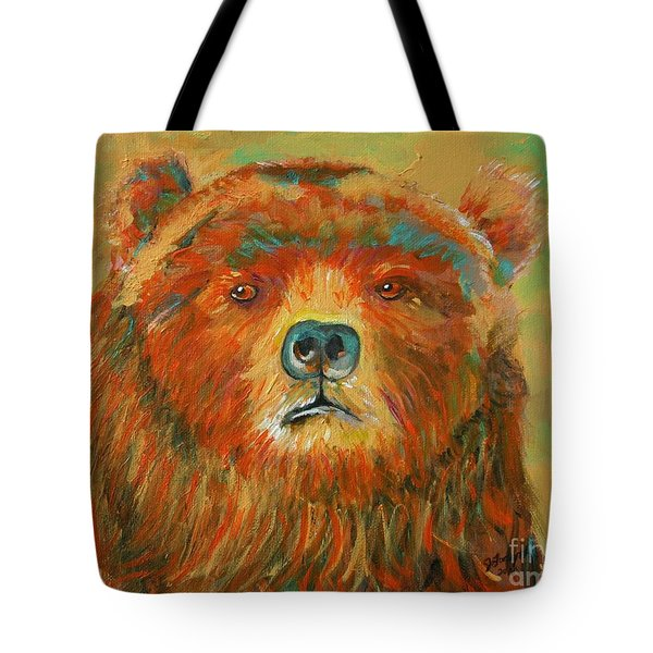 Colorful Bear Tote Bag