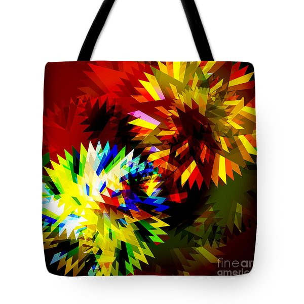 Colorful Blade Tote Bag by Atiketta Sangasaeng
